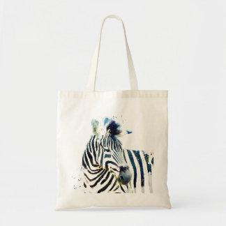 Zebra Watercolor Tote Bag