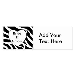 Zebra Wedding Mini Business Card