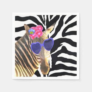 Zebra wild jungle cute animal fashion glamour napkin