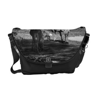 Zebra Wildlife Animal Photo Courier Bag
