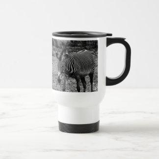 Zebra Wildlife Animal Photo 15 Oz Stainless Steel Travel Mug