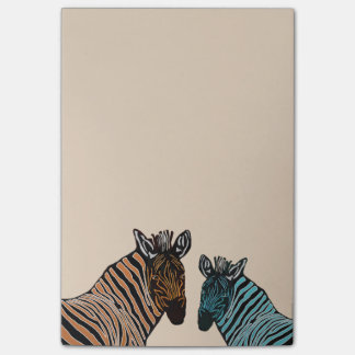 Zebra Wildlife Post-it Notes