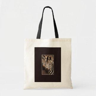 Zebra wildlife tote bags
