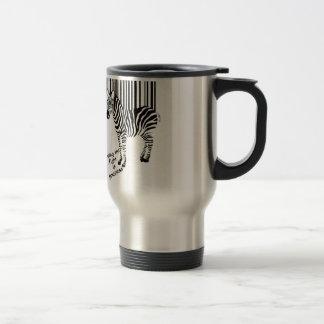 Zebra winning the fight travel mug