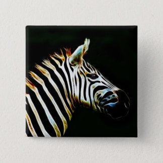 Zebra with black and white stripes in Africa Pinback Button
