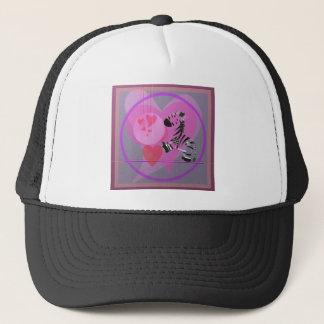Zebra with Hearts. Trucker Hat