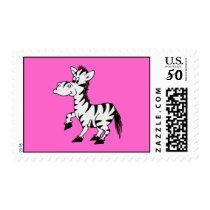 Zebra With Pink Postage