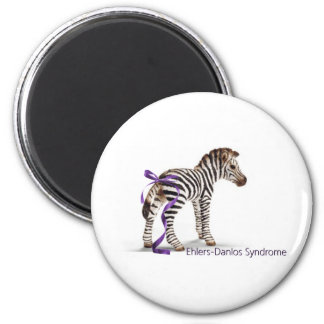 zebra with ribbon large.png 2 inch round magnet