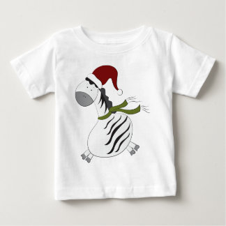 zebra with Santa Hat-christmas Infant T-shirt