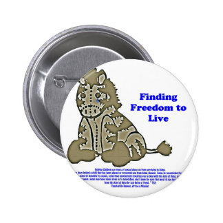 Zebra with Slogan Pinback Button