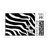 Zebra With Zebra Postage