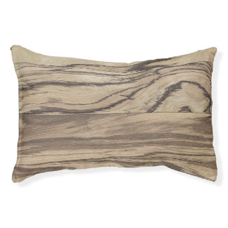 Zebra Wood Print Dog Bed