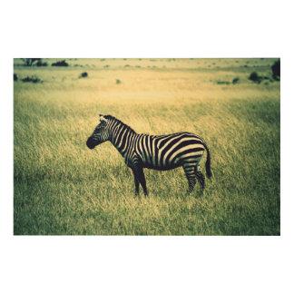 Zebra Wood Wall Art