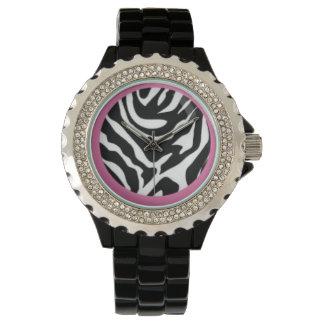 Zebra wraped in Pink Wristwatches