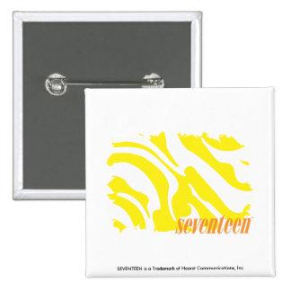 Zebra Yellow 2 Pinback Button