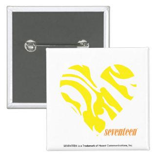 Zebra Yellow 4 Pinback Button
