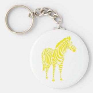 Zebra yellow orange yello blue abstractly kuns ani keychain