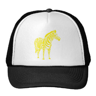 Zebra yellow orange yello blue abstractly kuns ani trucker hat