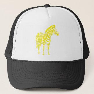 Zebra yellow orange yello blue abstractly kuns trucker hat