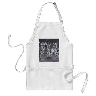 zebra zoo animal wildlife painting art gifts adult apron