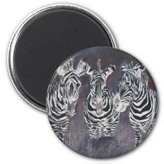 zebra zoo animal wildlife painting art gifts magnets