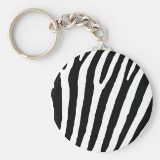 Zebrado standard basic round button keychain