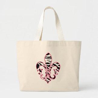 zebrafleur canvas bags