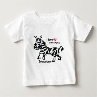 Zebraham- I love contrast Baby T-Shirt