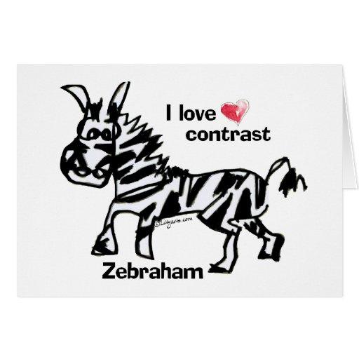 Zebraham- I love contrast Greeting Card