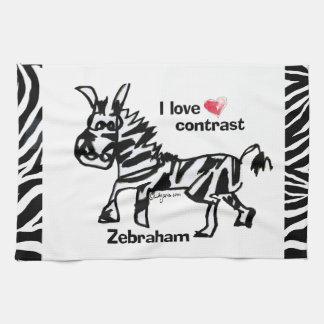 Zebraham- I love contrast Kitchen Towels