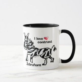 Zebraham- I love contrast Mug
