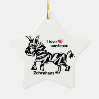 Zebraham- I love contrast Ornament