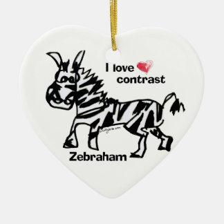 Zebraham- I love contrast Christmas Ornaments