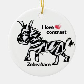 Zebraham- I love contrast Christmas Tree Ornaments
