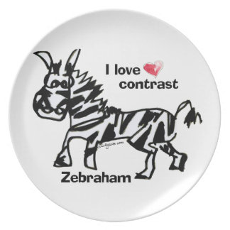 Zebraham- I love contrast Plate