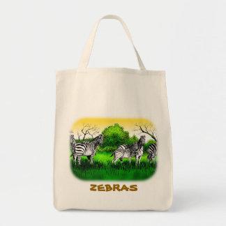Zebras Alert Tote Bag