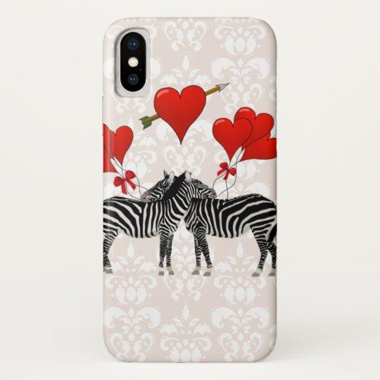 Zebras and hearts on pink damask blackberry bold case