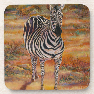 Zebras are always pregnant drink coaster