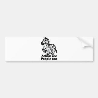 Zebras are People too Bumper Sticker