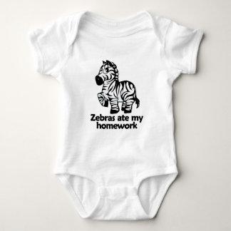 Zebras ate my homework baby bodysuit