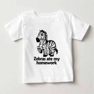 Zebras ate my homework baby T-Shirt
