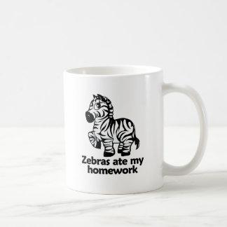 Zebras ate my homework mug