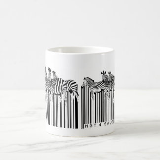 zebras barcode coffee mug
