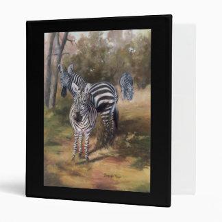 Zebras Binder