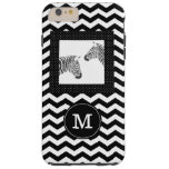 Zebras Black White Chevron and Polka Dots Monogram Tough iPhone 6 Plus Case