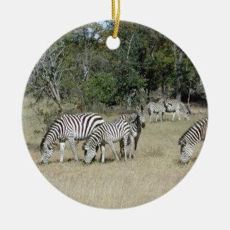 Zebras Ceramic Ornament