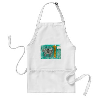 Zebras eating grass adult apron