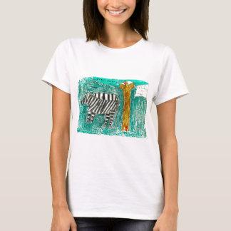 Zebras eating grass T-Shirt