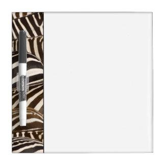 Zebras' (Equus quagga) stripes, Masai Mara Dry Erase Board