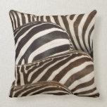 Zebras' (Equus quagga) stripes, Masai Mara Pillows